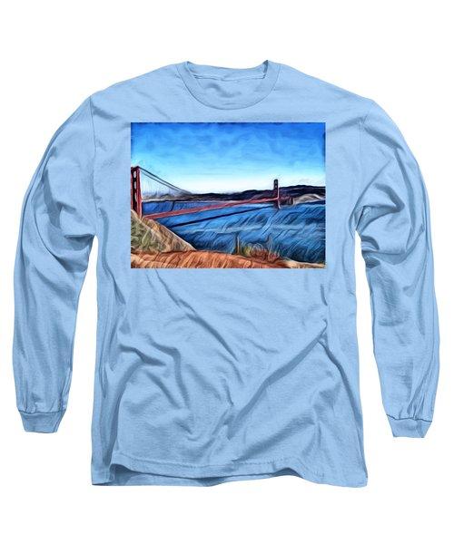Windy Day At Golden Gate Bridge Long Sleeve T-Shirt