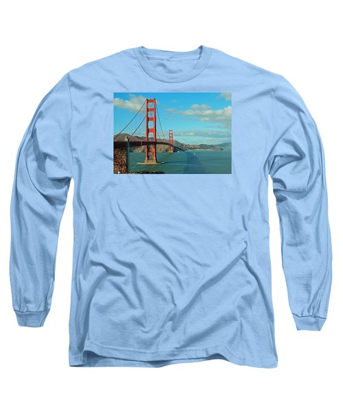 Golden Gate Bridge Long Sleeve T-Shirt by Emmy Marie Vickers