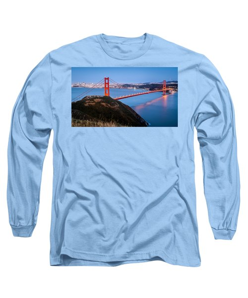 Golden Gate Bridge Long Sleeve T-Shirt by Mihai Andritoiu
