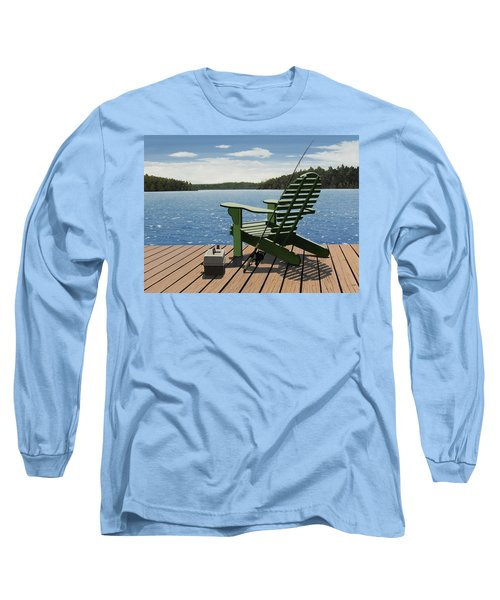 Gone Fishing Long Sleeve T-Shirt by Kenneth M  Kirsch