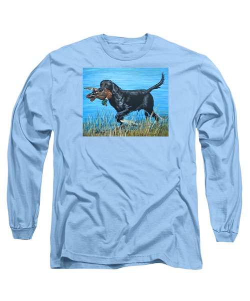 Good Dog Long Sleeve T-Shirt by Jeanette Jarmon