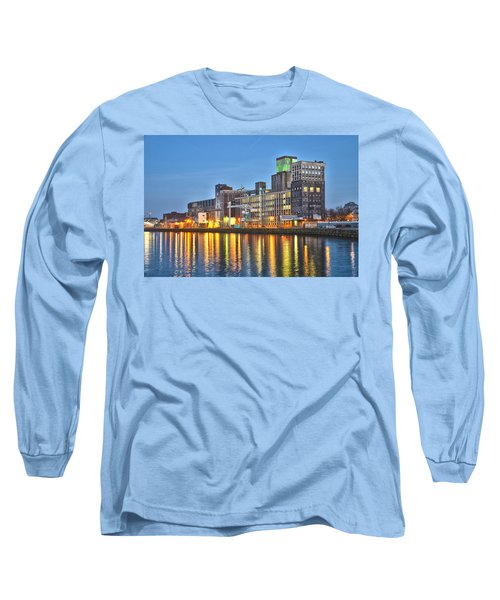 Grain Silo Rotterdam Long Sleeve T-Shirt by Frans Blok