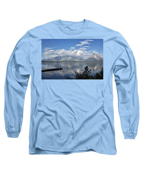 Grand Tetons In The Morning Light Long Sleeve T-Shirt