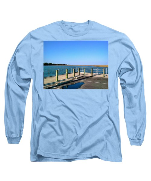 Great Day For Fishing In The Marsh Long Sleeve T-Shirt by Amazing Photographs AKA Christian Wilson
