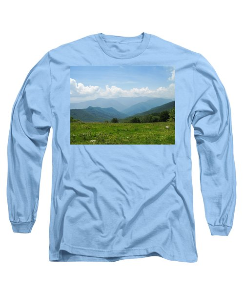 Great Smoky Mountains Long Sleeve T-Shirt by Melinda Fawver
