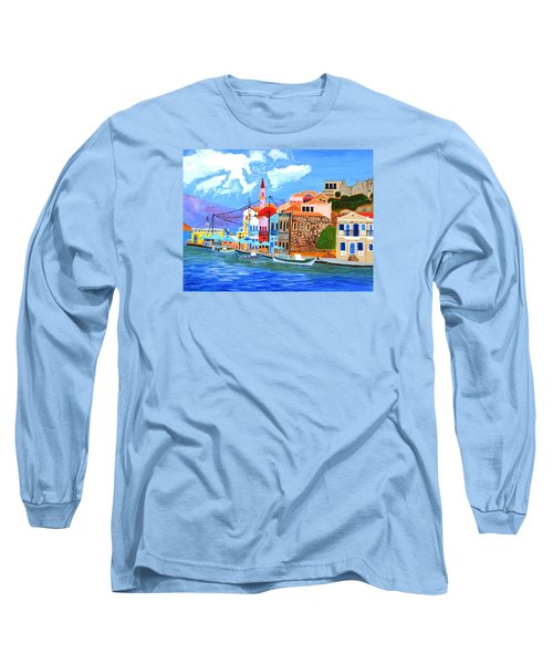Greek Coast Long Sleeve T-Shirt by Magdalena Frohnsdorff