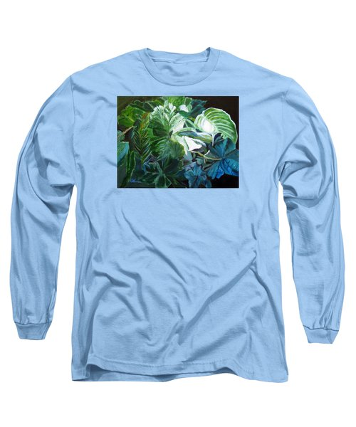 Green Leaves Study Long Sleeve T-Shirt by LaVonne Hand