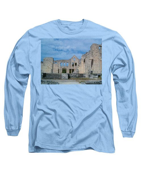 Long Sleeve T-Shirt featuring the photograph Haha Tonka Castle 1 by Sara  Raber