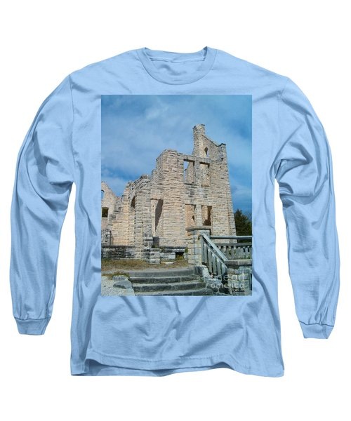Long Sleeve T-Shirt featuring the photograph Haha Tonka Castle 2 by Sara  Raber