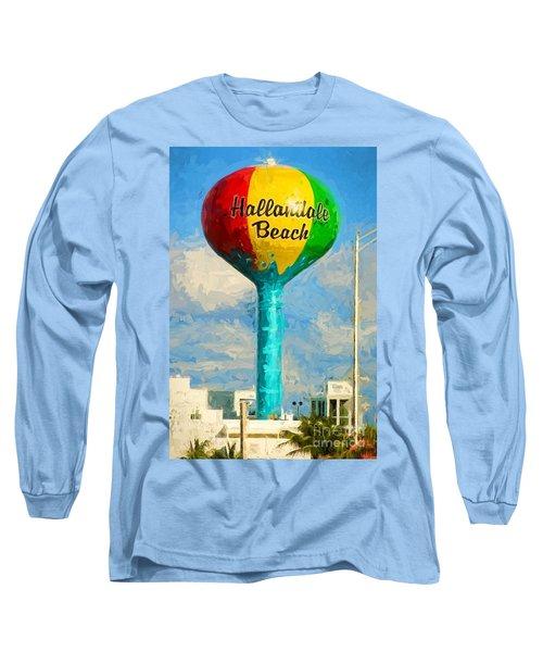 Hallandale Beach Water Tower Long Sleeve T-Shirt