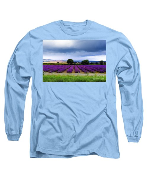 Hampshire Lavender Field Long Sleeve T-Shirt