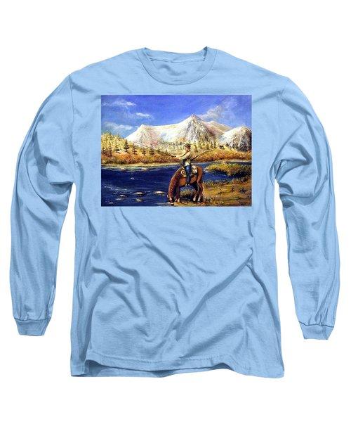 Happy Trails Long Sleeve T-Shirt by Bernadette Krupa