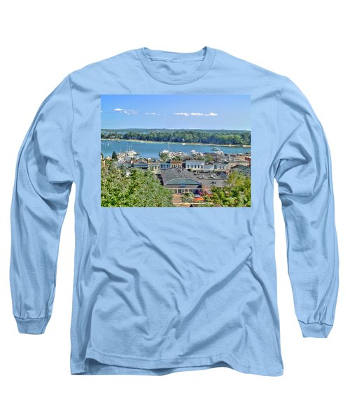 Harbor Springs Michigan Long Sleeve T-Shirt by Bill Gallagher