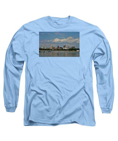 Harrisburg Skyline Long Sleeve T-Shirt by Ed Sweeney