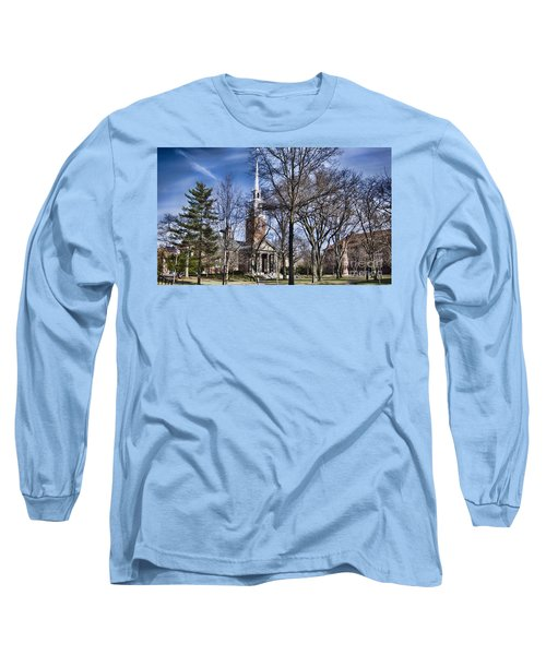 Harvard University Old Yard Church Long Sleeve T-Shirt