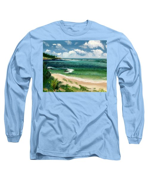 Hawaii Beach Long Sleeve T-Shirt by Jamie Frier