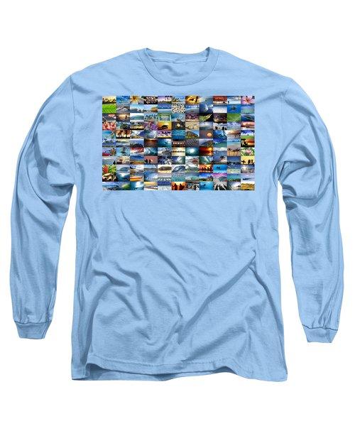 One Hawaiian Mixed Plate Long Sleeve T-Shirt