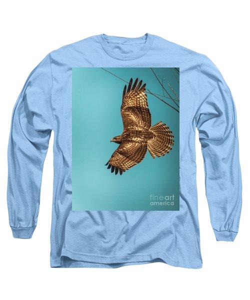 Hawk In Flight Long Sleeve T-Shirt