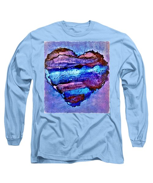 Heart Love Music Alcohol Inks  Long Sleeve T-Shirt