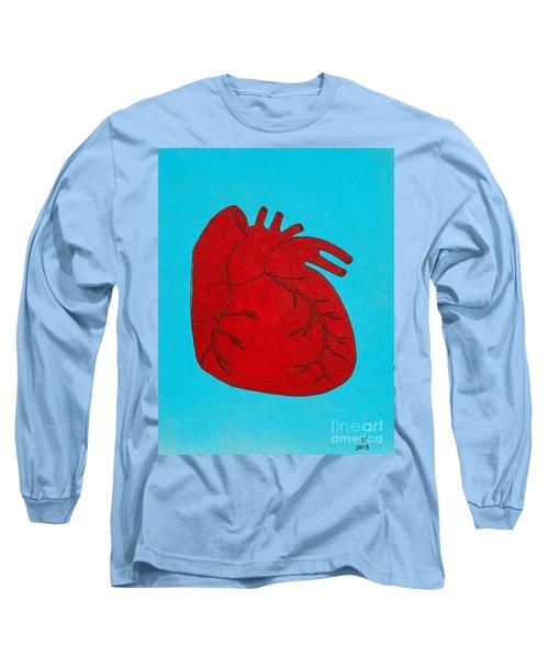 Heart Red Long Sleeve T-Shirt