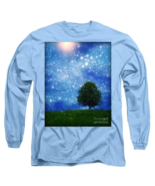 Heaven And Earth Long Sleeve T-Shirt by Rory Sagner