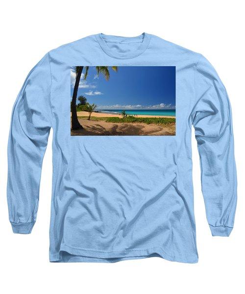 Heavenly Haena Beach Long Sleeve T-Shirt by Marie Hicks