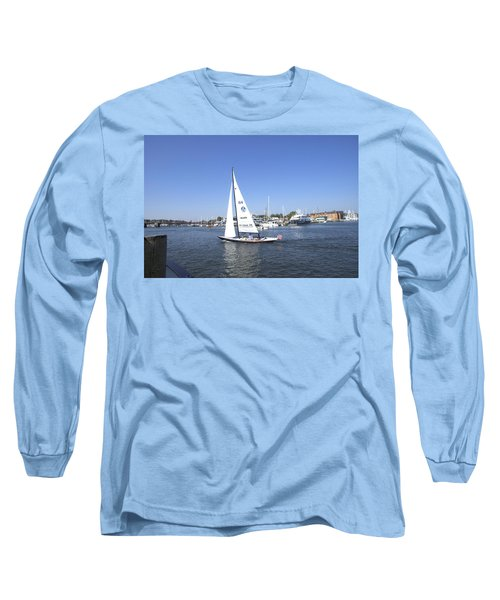 Long Sleeve T-Shirt featuring the photograph Heeling by Charles Kraus