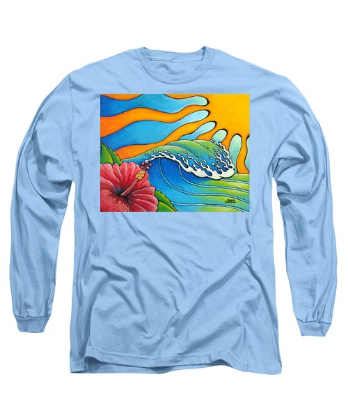 Hibiscus Wave Long Sleeve T-Shirt
