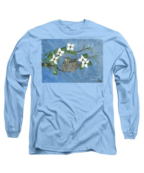 Long Sleeve T-Shirt featuring the painting Hidden Jewel by Ella Kaye Dickey