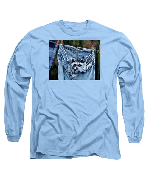 Hiding In My Jeans Long Sleeve T-Shirt by Donna Tucker