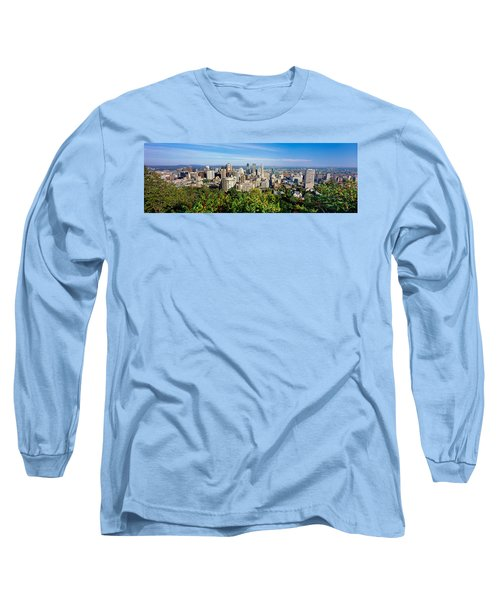 High Angle View Of A Cityscape, Parc Long Sleeve T-Shirt