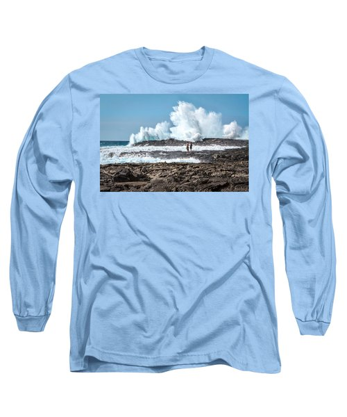 In Over Their Heads Long Sleeve T-Shirt by Denise Bird