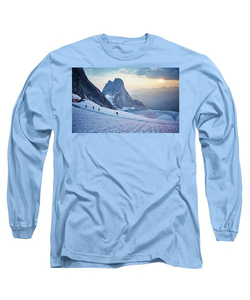 Hiking Around A Crevice Of West Ridge Long Sleeve T-Shirt
