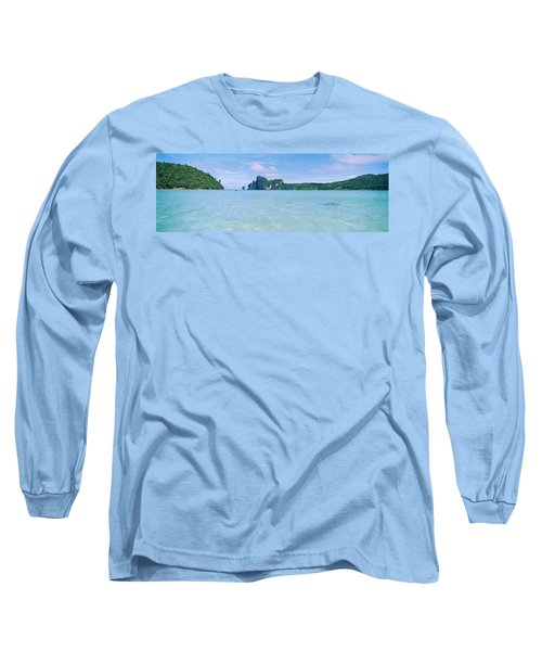 Hills In The Ocean, Loh Dalum Bay, Ko Long Sleeve T-Shirt