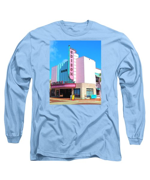 Deco Historic Edison Theater. Ft. Myers. Florida. Long Sleeve T-Shirt