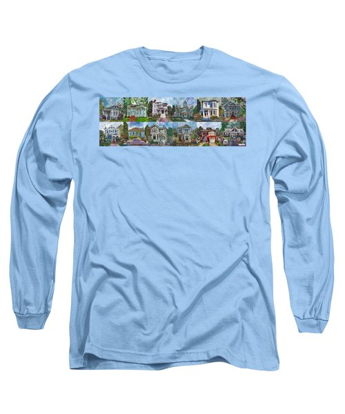 Historical Homes Long Sleeve T-Shirt by Linda Weinstock