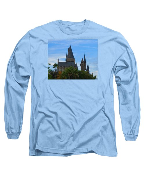 Hogwarts Castle With Towers Long Sleeve T-Shirt by Kathy Long