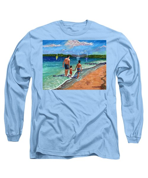 Holding Hands Long Sleeve T-Shirt by Laura Forde