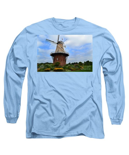 Holland Michigan Windmill Long Sleeve T-Shirt
