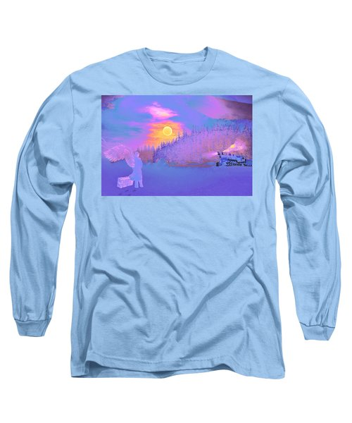 Homebound Train Angel And A Suitcase Long Sleeve T-Shirt