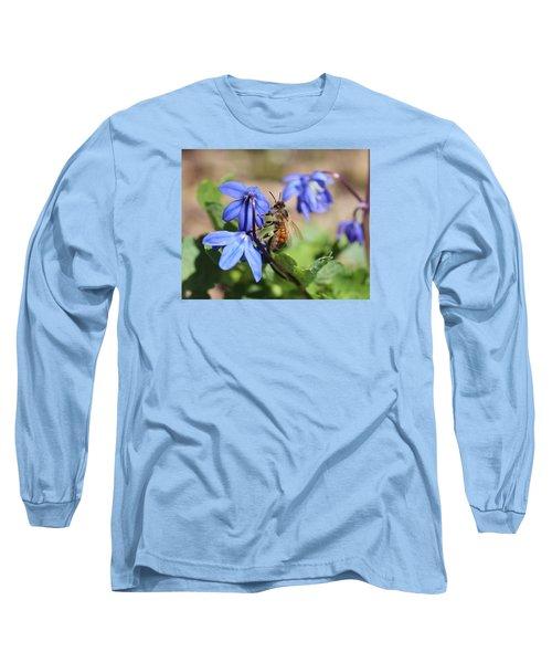 Honeybee On Siberian Squill Long Sleeve T-Shirt