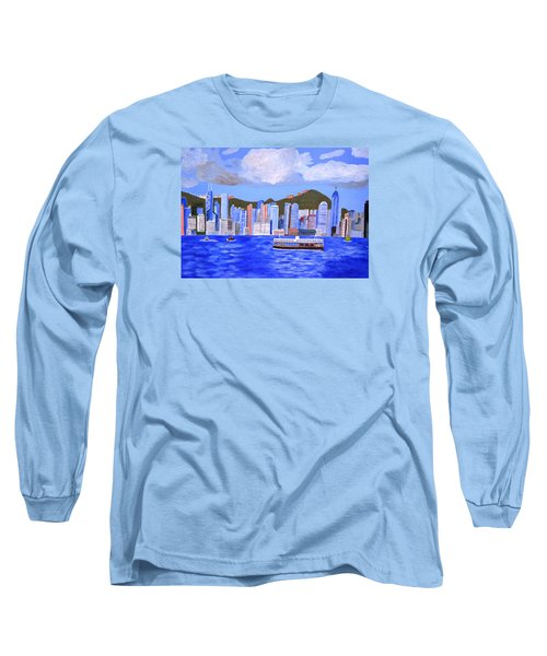 Hong Kong Long Sleeve T-Shirt by Magdalena Frohnsdorff