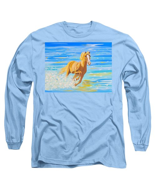 Long Sleeve T-Shirt featuring the painting Horse Bright by Phyllis Kaltenbach