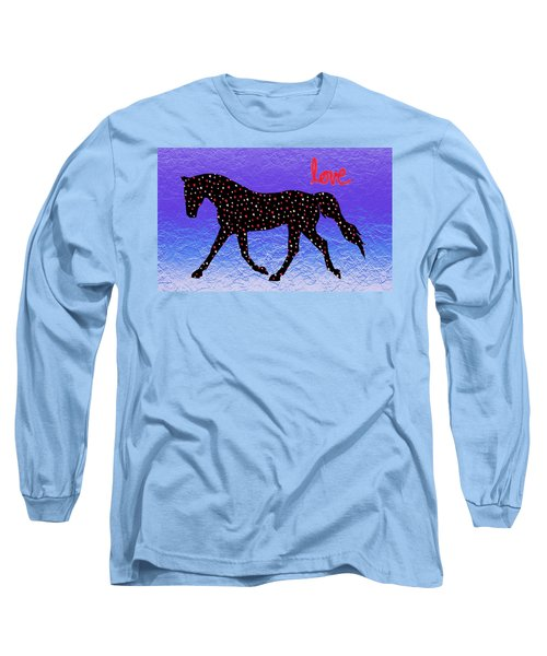 Horse Hearts And Love Long Sleeve T-Shirt