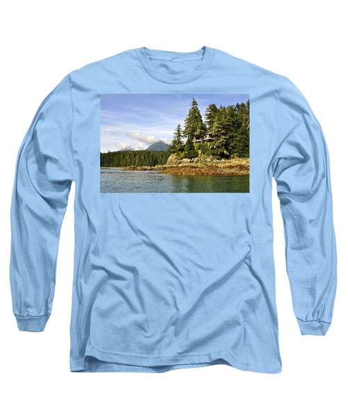 Long Sleeve T-Shirt featuring the photograph House Upon A Rock by Cathy Mahnke