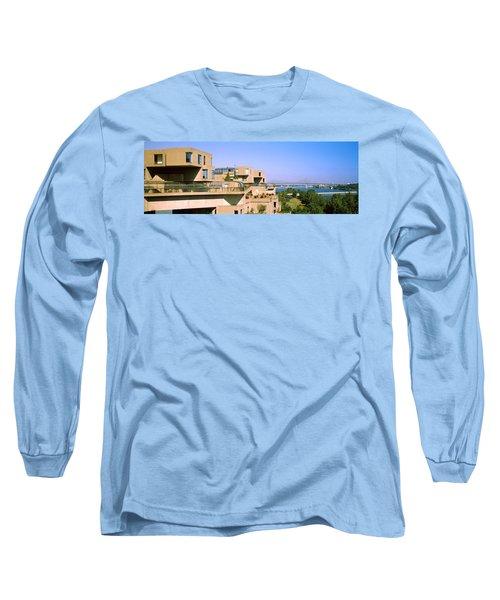 Housing Complex With A Bridge Long Sleeve T-Shirt