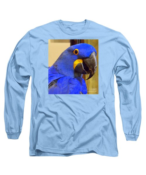 Hyacinth Macaw Portrait Long Sleeve T-Shirt
