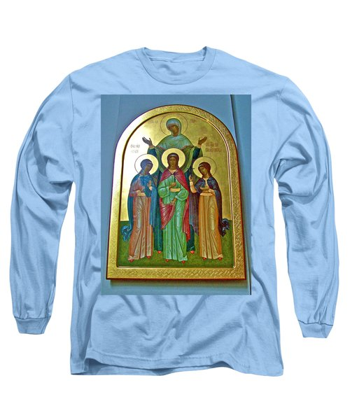 Icon Inside Chesme Church Built By Catherine The Great In Saint  Petersburg-russia Long Sleeve T-Shirt