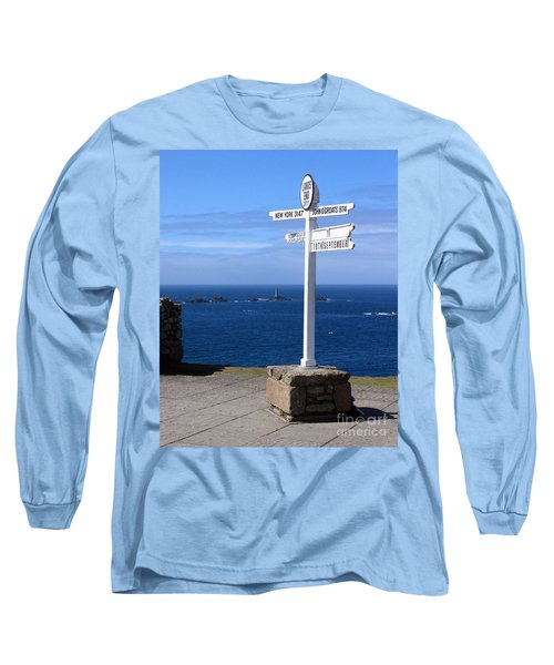 Long Sleeve T-Shirt featuring the photograph Iconic Lands End England by Terri Waters
