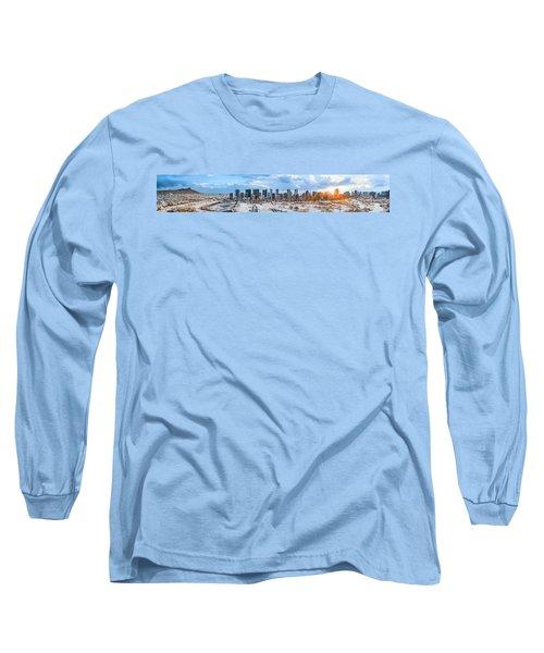 Infrared Sunset Over Honolulu Long Sleeve T-Shirt